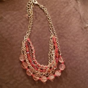 Jewelry - Silver and pink necklace.